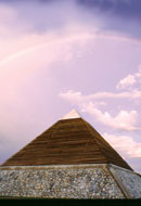 Rainbow over Pyramid